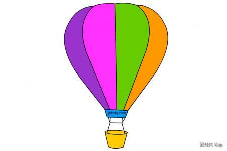 空中的热气球简笔画