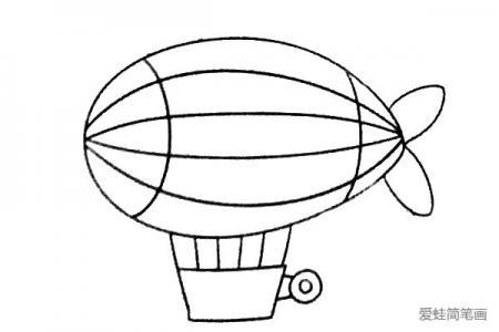 学画热气球