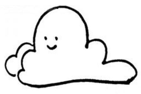 卡通云朵简笔画图片