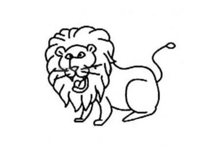 简单的狮子简笔画图片