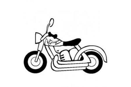 摩托车简笔画 摩托车的画法步骤