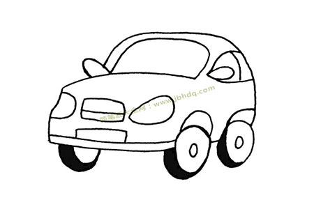 可爱的小汽车简笔画图片
