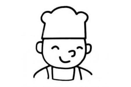 厨师头像简笔画