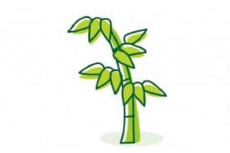 儿童简笔画图片 竹子