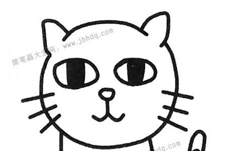 萌萌的小猫简笔画图片
