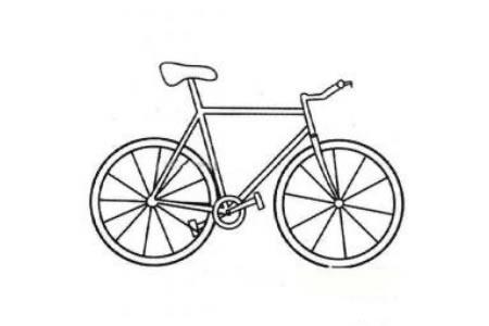 高大的自行车简笔画