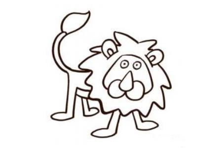 丛林之王狮子的画法