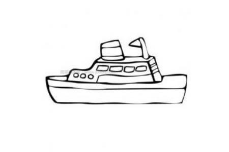 小游艇简笔画