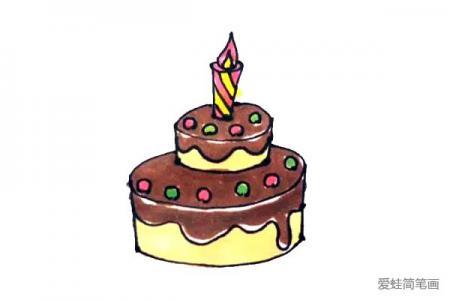 轻松学画生日蛋糕