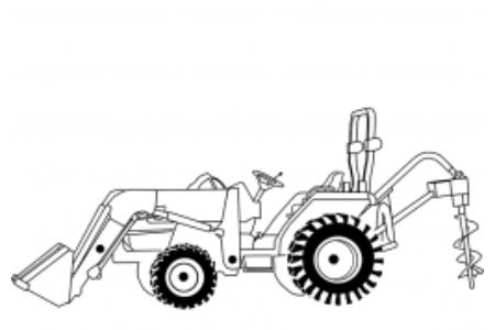加载挖掘机的拖拉机