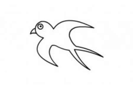 简笔画小燕子的画法