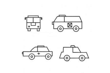 幼儿简单的交通工具简笔画