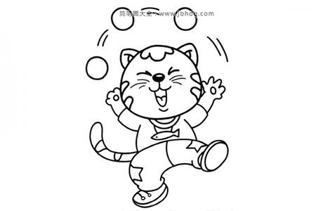 小猫玩杂耍