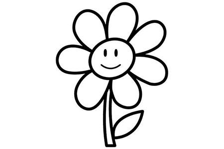5张简单可爱的向日葵简笔画