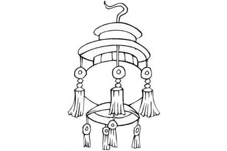 春节简笔画素材 春节灯笼