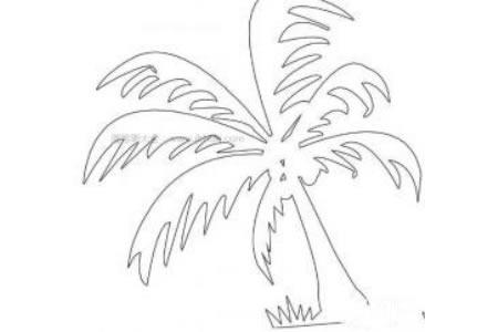 超简单椰子树简笔画