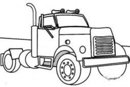 工程车简笔画图片之运输车