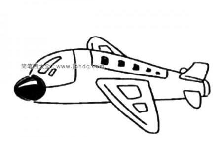 Q版客运飞机简笔画