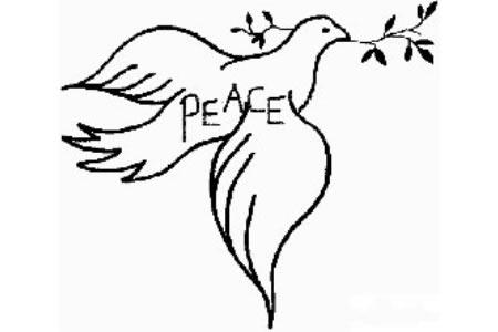 幼儿和平鸽简笔画画法