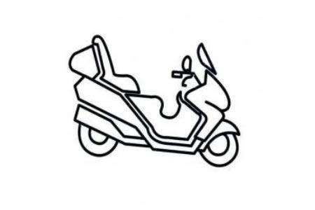 儿童简笔画图片 摩托车简笔画