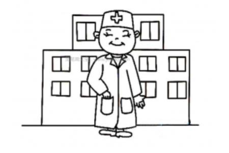 医院里的医生简笔画