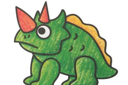 幼儿学画戟龙