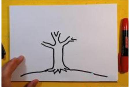 苹果树怎么画 儿童画苹果树的画法