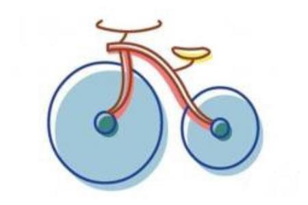 儿童简笔画自行车的画法