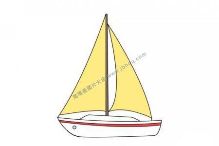 分步学画:画帆船