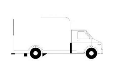 送货卡车简笔画图片