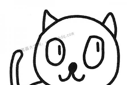 调皮的小猫简笔画图片