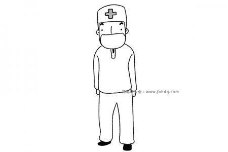 手术医生简笔画图片