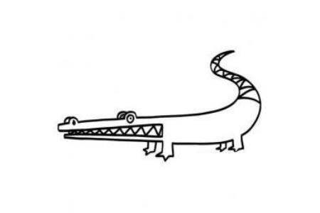 鳄鱼的简笔画