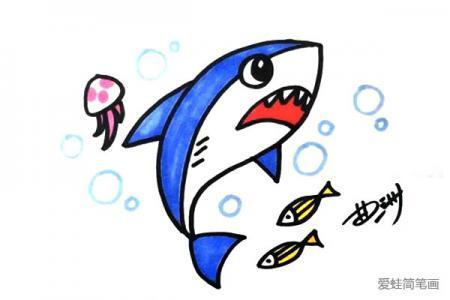 可怕的鲨鱼怎么画