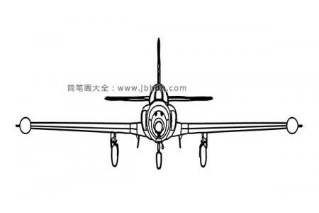 正面飞机简笔画图片
