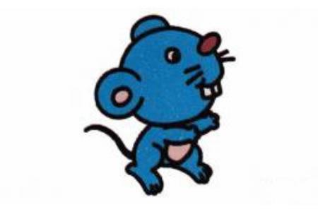 机灵的老鼠简笔画