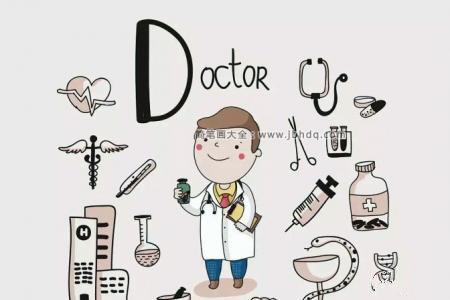 牙科医生简笔画图片