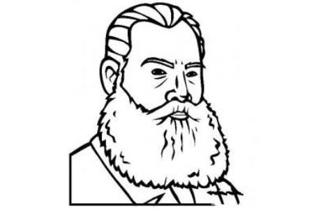 历史人物图片 列夫•托尔斯泰简笔画画像