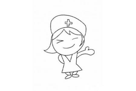 卡通护士简笔画图片