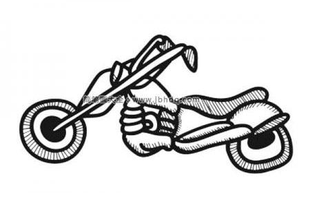 漂亮的摩托车简笔画图片