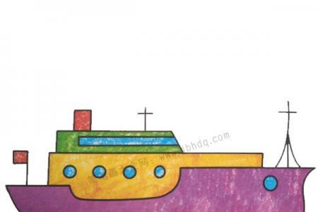 幼儿学画轮船3
