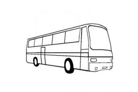大客车简笔画图片