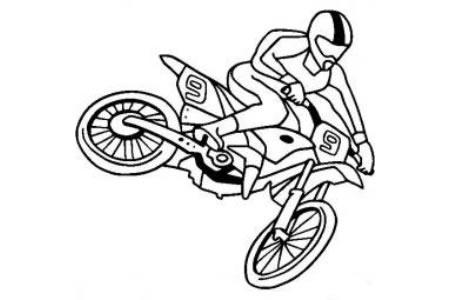 摩托车简笔画 摩托车越野赛简笔画图片