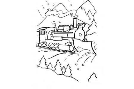 火车图片 奔驰的火车简笔画
