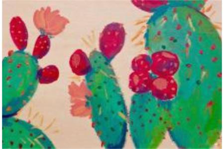 仙人掌开花啦植物写生画图片大全