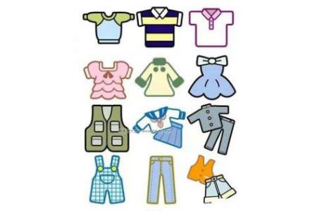 幼儿彩色衣裤简笔画图片