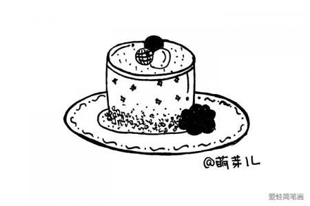 甜品简笔小插画