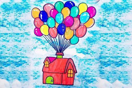 画飞屋环游记中会飞的房子