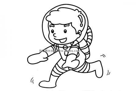 装扮成航天员的小男孩