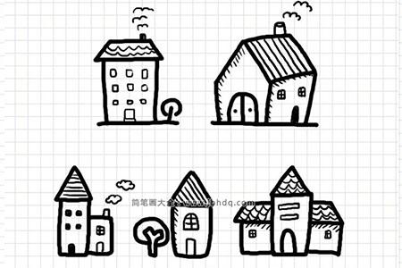 5种漂亮的房子手帐简笔画